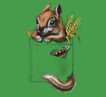 Pocket chipmunk One Piece - Short Sleeve