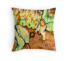 Old School Capoeira Throw Pillow