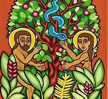 Adam and Eve by deeda