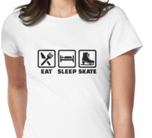 Eat Sleep Skate Womens Fitted T-Shirt