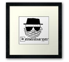 heisenburger breaking bad  Framed Print