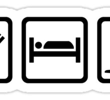 Eat Sleep skating Sticker