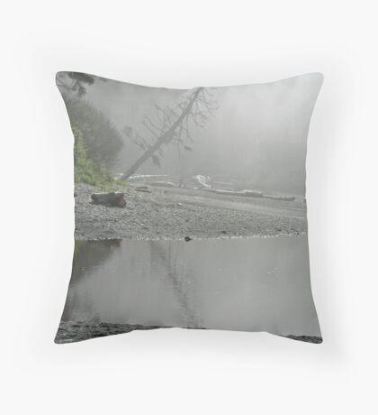"""Mysterious Inlet"" Throw Pillow"