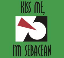 Kiss me, I'm Sebacean (light) Kids Clothes