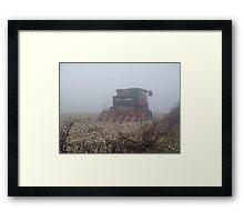 Fog Closes in on the Farm Framed Print