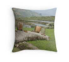 Sandals Drying Throw Pillow