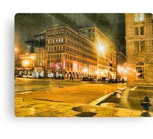 The City in Winter Canvas Print