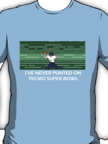 NES Nintendo Tecmo Super Bowl I've Never Punted T-Shirt