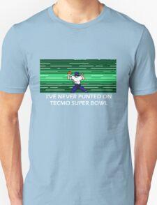 NES Nintendo Tecmo Super Bowl I've Never Punted T-Shirt