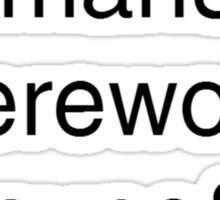 Teen Wolf Main Character Season 3 Sticker
