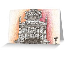 Belém Tower. Sta. Maria crown in stone. Greeting Card