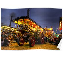 Showmans engine by night Poster
