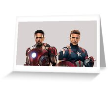 Iron Man and Captain America  Greeting Card