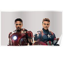 Iron Man and Captain America  Poster