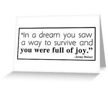 In A Dream You Saw... Greeting Card