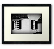 House on C&O Canal Framed Print