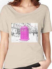 Pink Tardis  Women's Relaxed Fit T-Shirt