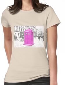 Pink Tardis  Womens Fitted T-Shirt