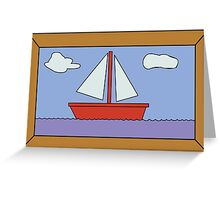 Sail Boat Artwork Greeting Card
