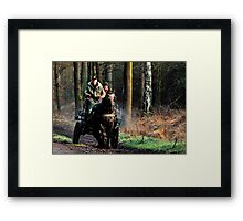 Riding out on a cold Sunday morning Framed Print