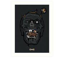 Grey Skull Art Print