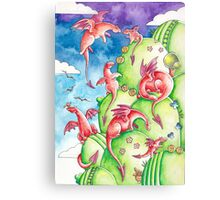 Suddenly, dragons Canvas Print