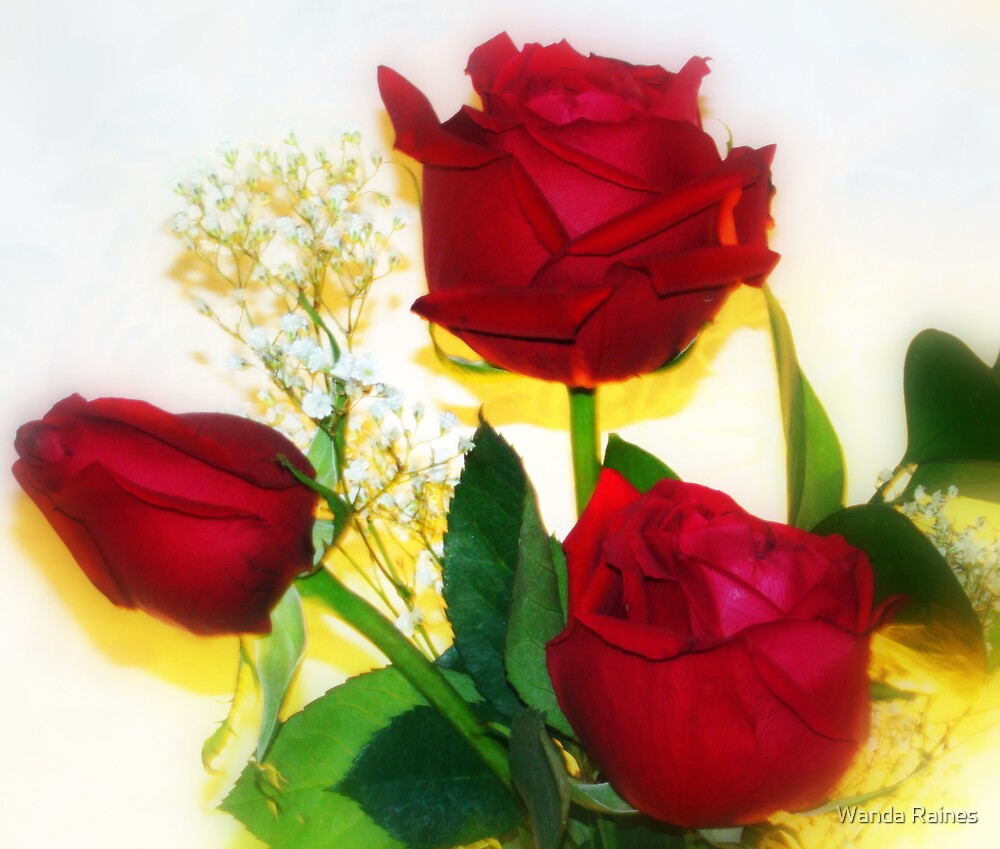 Three Roses by Wanda Raines