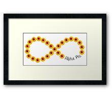 Alpha Phi Flower Infinity Framed Print