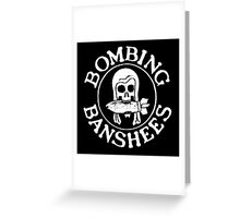 Bombing Banshees Greeting Card