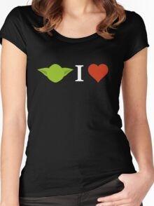 Yoda I Love (black) Women's Fitted Scoop T-Shirt