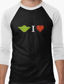 Yoda I Love (black) Men's Baseball ¾ T-Shirt