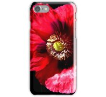 Red Opium Poppy iPhone Case/Skin