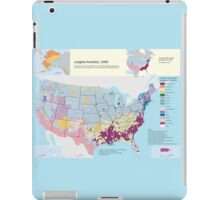 Top US Ancestries by county Map iPad Case/Skin