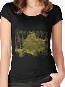 Wall Street Bull T-Shirt Graphic Women's Fitted Scoop T-Shirt