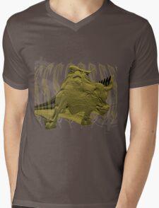 Wall Street Bull T-Shirt Graphic Mens V-Neck T-Shirt