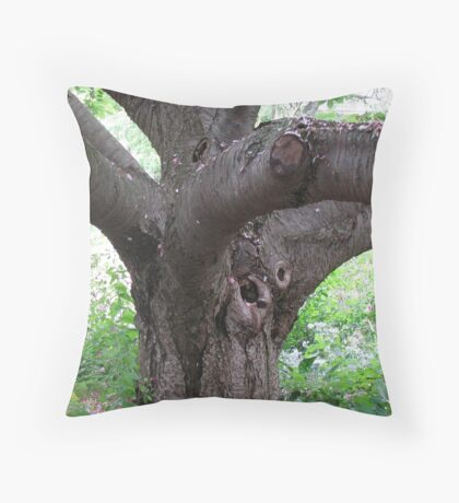 The Old Cherry Tree Throw Pillow