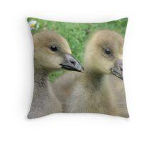 Graylag Goslings Throw Pillow