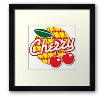 CHERRY with red cherries Framed Print