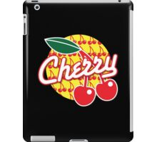 CHERRY with red cherries iPad Case/Skin