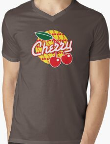 CHERRY with red cherries Mens V-Neck T-Shirt