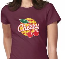 CHERRY with red cherries Womens Fitted T-Shirt