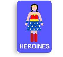 Wonder Woman/Heroines Canvas Print