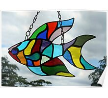 Stained Glass Fish Poster