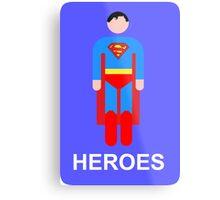 Superman/Heroes Metal Print