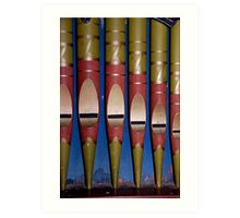 Organ Pipes Art Print