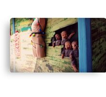 Welcome to the Dollhouse Canvas Print