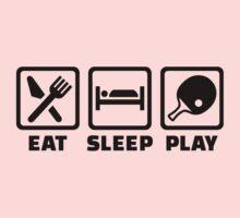 Eat Sleep Play Ping Pong One Piece - Long Sleeve