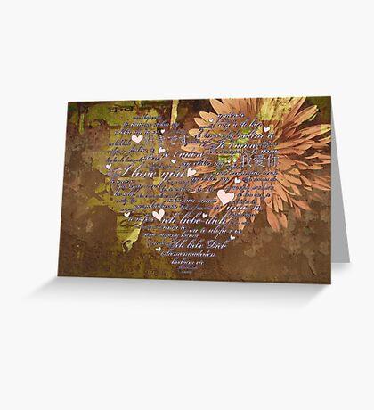 Love Language Greeting Card