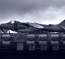 USS Boxers Harrier Jet by Stanislaw