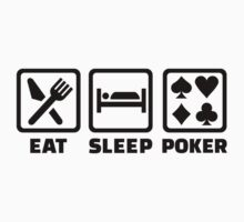 Eat Sleep Poker Kids Tee
